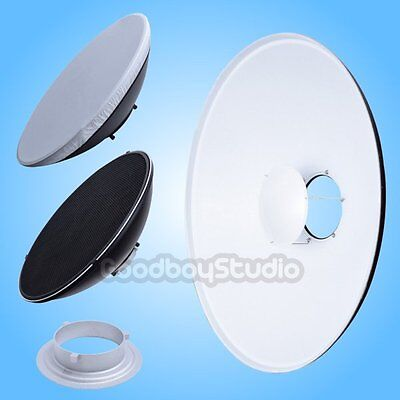 42cm 16'' White Honeycomb Grid Beauty Dish Bowens Mount (Speedring Changeable)
