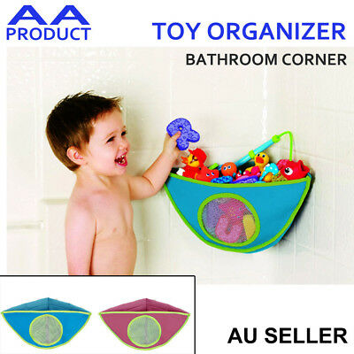 Bathroom Toy Organizer Triangle Basket Corner Shower Caddy Mesh Bag for Kid