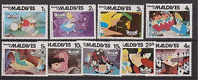 Maldives Stamp Set Alice In Wonderland Disney 1980 Mnh Sg 899-907