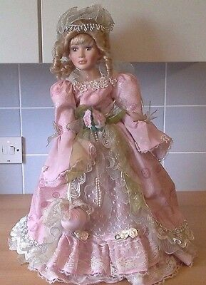 """Knightsbridge Collection Porcelain Doll 22"""" Celeste Victorian Pink Traditional"""