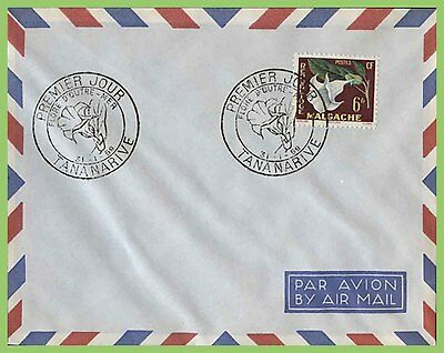 Malagasy 1959 Regional Flowers issue on u/a Airmail First Day Cover