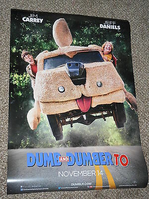 DUMB AND DUMBER TO ex 27x40 INTERNATIONAL ORIGINAL D/S MOVIE POSTER
