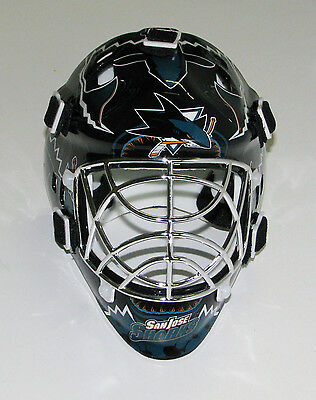 San Jose Sharks Franklin Sports Collectible Mini Goalie Mask - NIB