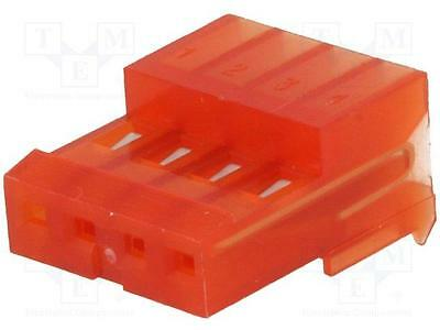 """640440-4 IDC Red Connector 4 Position MTA-100 .100"""" 2.54mm 22awg QTY=50"""