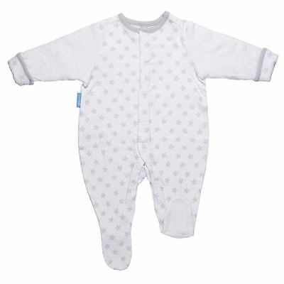 The Gro Company - Silver Star Baby Quilted Grosuit Sleeping Soft Cotton, 12-18m