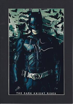 Christian Bale Signed Photo Autograph Mount Display,The Dark Knight Re-Print A4