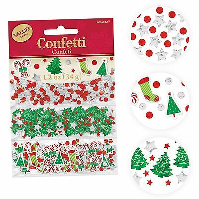 Christmas Table Confetti Table Decorations Santa Tree Merry Star Stocking Sequin