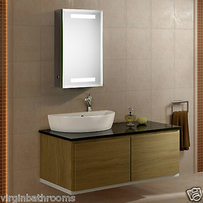 Jupiter Led Illuminated Bathroom Mirror Cabinet Infra-Red Sensor Shaver Socket