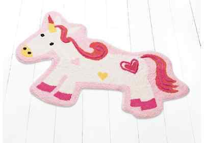 Unicorn Rug Mat Carpet Girls Baby Childrens Kids Bedroom Home Decor Pink White