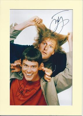 Dumb and Dumber, Jim Carrey + Jeff Daniels Signed Autograph Photo Mounted A4 PP