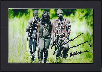 Walking Dead Michonne, Danai Gurira Signed Photo, Mounted Pre-Print  Size A4