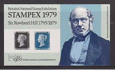 Stampex 1979 Miniature Sheet Sir Rowland Hill 1795-1879 Penny Black Mnh