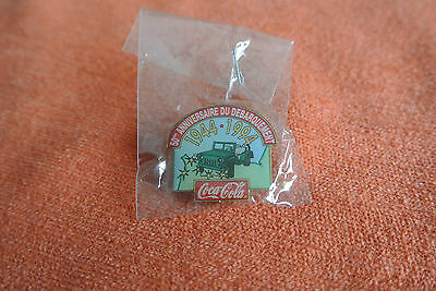 18752 PIN'S PINS BOISSON DRINK COCA COLA 1944-1994 50th NORMANDIE JEEP WILLYS