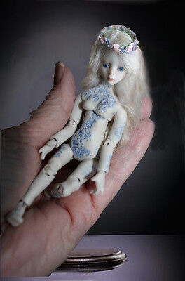 1/12 scale Miniature BJD Porcelain Ball Jointed Doll Simply Enchanted Tattoo