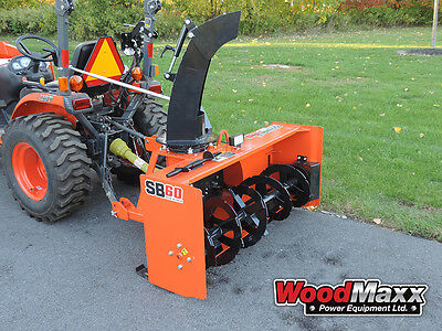 """WOODMAXX SB-60 PTO Snow Blower 60"""" (FREE SHIPPING to the lower 48 States)."""