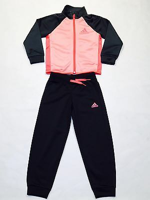 Adidas Genuine Girls Full Black/pink Track Suits