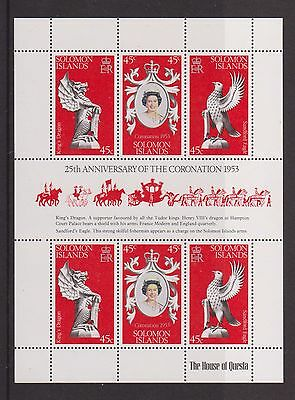 Solomon Island Mnh Stamp Miniature Sheet 1978 25Th Anniversary Of The Coronation