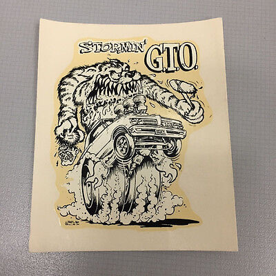 Collectible Vintage Rat Fink Ed Roth Stormin' GTO Water Slide Decal