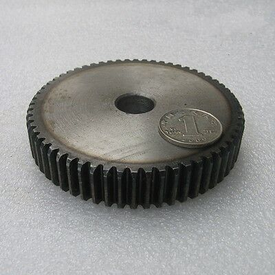 1.5Mod 80T 45# Steel Motor Spur Gear Outer Diameter 123mm Thickness 15mm Qty 1