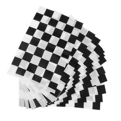 12x Black White Chequered Hand Waving Flag F1 Formula One Racing Banners