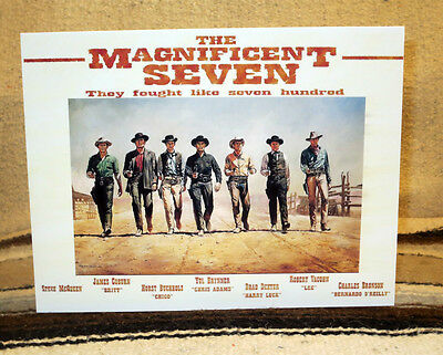 """""""The Magnificent Seven"""" 1960's Yul Brenner Movie Poster Tabletop Display Standee"""