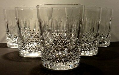 Vintage Waterford Crystal Colleen Double Old Fashioned Glasses ~ Set Of 6