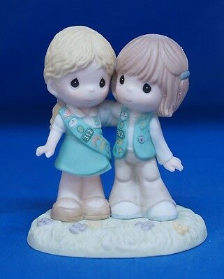 Girl Scout Scouting Brings Friends Together Precious Moments Figure 102009