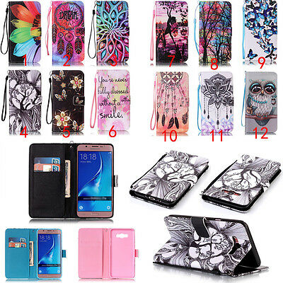 Magnetic Flip Patterned PU Leather Wallet Cover For Samsung Galaxy Phone Case