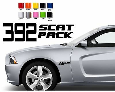 #391 Dodge Charger Challenger Hemi SRT HELLCAT HEMI DECALS STICKERS 13.5/""