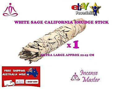 White Sage California Smudge Stick EXTRA LARGE 22-25cm Smudging incense_master