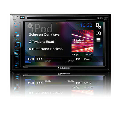 "NEW Pioneer Double 2 Din AVH-190DVD DVD/MP3/CD Player 6.2"" Touchscreen AUX USB"