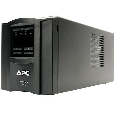 APC Smart-UPS 750 Tower UPS with LCD Display SMT750I Uninteruptable Power Supply