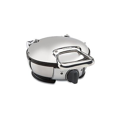 All-Clad 99012GT STAINLESS STEEL ROUND WAFFLE MAKER W/ 7 BROWNING SETTINGS NEW!!