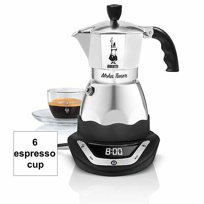 BIALETTI easy Timer moka coffee maker 6 cups espresso programmable nice camping