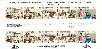 B07177 Tonga 1078-1082 postfr./mnh Rugby SPECIMEN