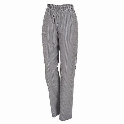 **Lowest Price** XS Drawstring Chef Pants Trousers Check, FREE SHIPPING
