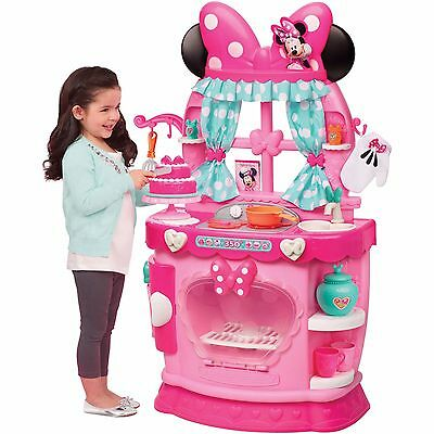 Minnie Mouse Kitchen Play Set Pretend Play w 20+ Accessories Bow Girls Pink