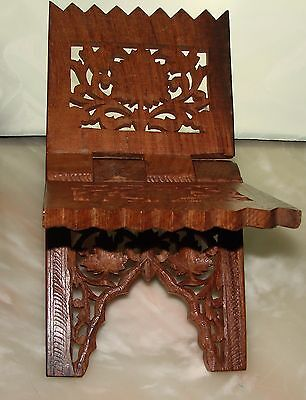 Hand Carved Wood Folding Collapsible Magazine Rack 7 Design