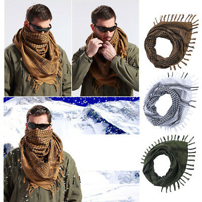 Military Army Tactical Keffiyeh Shemagh Scarf Arab Shawl Neck Cover Head Wrap