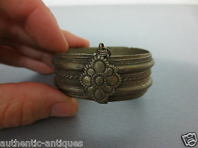 ANTIQUE Late 19th Century Silver alloy OTTOMAN WOMEN'S FOLK BRACELET RARE #2