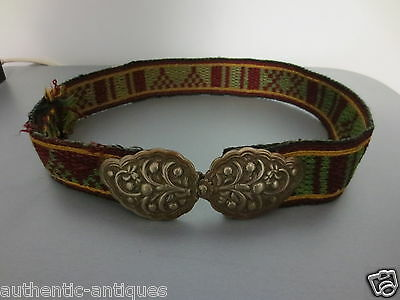 TOP PRICE! ANTIQUE OTTOMAN Silver Alloy BELT BUCKLE GREECE - Macedonian - RARE