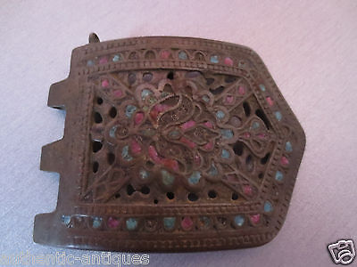 Gorgeous LARGE Antique ENAMEL Buckle late Middle Ages Exremely RARE! Half!