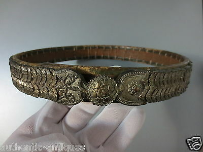 ANTIQUE OTTOMAN SILVER ALLOY BELT ORIGINAL 19th Century Islamic - RARE TYPE!