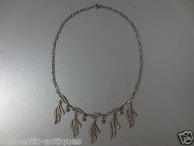 Gorgeous Antique VINTAGE SILVER FILIGREE Folklore NECKLACE - EXCELLENT - RARE!