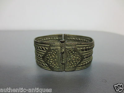 GORGEOUS ANTIQUE Late 19th Century SILVER ALLOY OTTOMAN WOMEN'S FOLK BRACELET 9