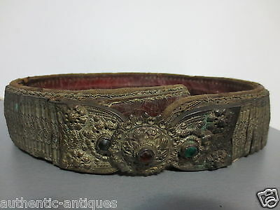 ANTIQUE OTTOMAN SILVER ALLOY BELT 1800's ORIGINAL from Early 19th C Islamic Rare