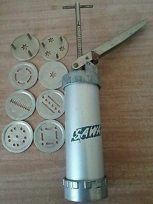 SAWA vintage cookie biscuit press 8 discs icing piping Made in Sweden