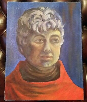 Vintage original oil on canvas painting of a middle aged Woman superb piece