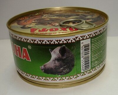 Wild Boar meat canned stewed Premium Quality Product from Russia