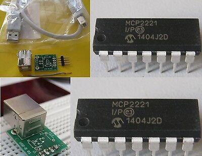 MCP2221-I/P USB UART DIP, USB I2C™-Adapter + USB Adapter auf DIL